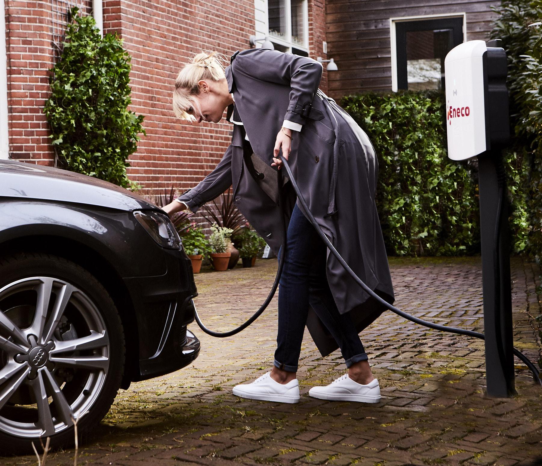 Wereldprimeur: <br>  slim laden elektrische <br> auto's